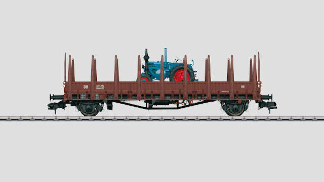 Rungenwagen Rmms 33 Ulm der DB Lanz