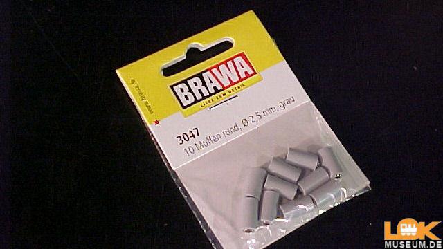 Muffen rund 2,5 mm grau 10 Stück