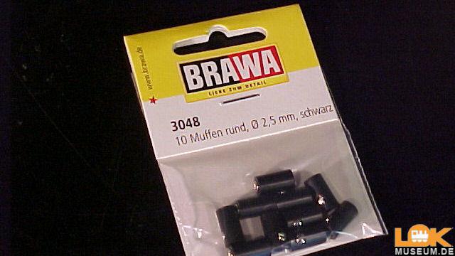Muffen rund 2,5 mm schwarz 10 Stück