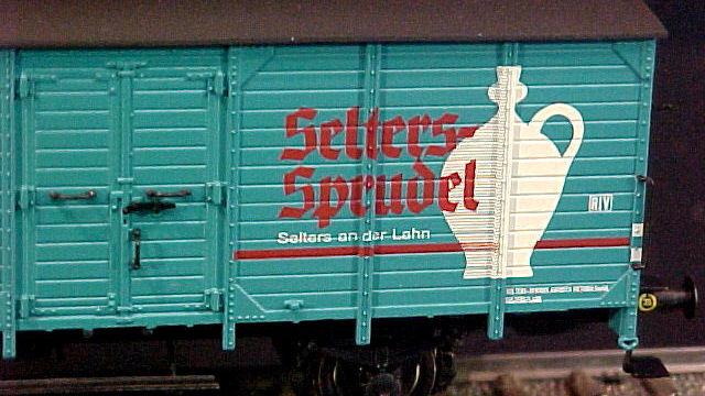 Bierwagen Selters Sprudel der DB