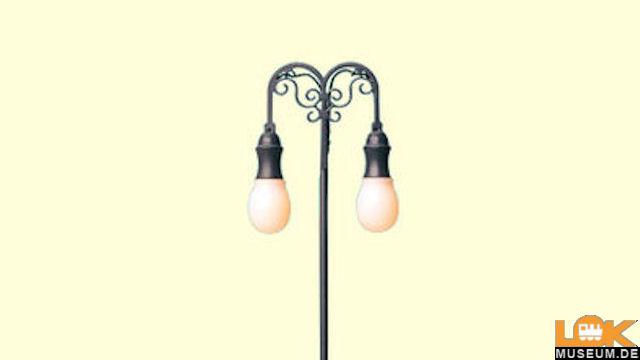 Platzleuchte doppelt, Stecksockel mit LED