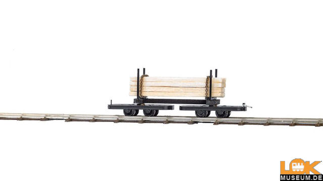 Drehgestell-Rungenwagen mit Langholz