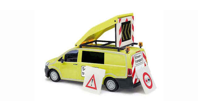 Mercedes-Vito Schwertransportbegleitung