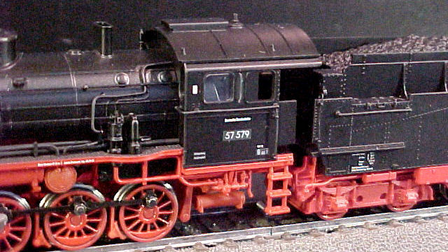 Güterzug-Dampflokomotive BR 57.5 der DB