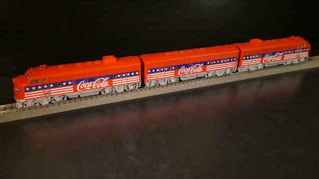 Dieselelektrische Lokomotive F7 Coca-Cola