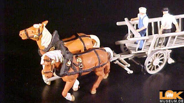 Leiterwagen mit Pferdegespann