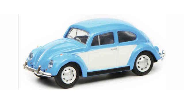 VW Käfer blau/weiß