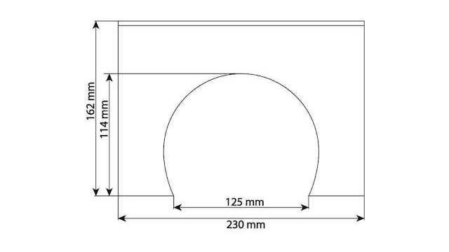 Dekorplatte Tunnelportal Profi 2-gleisig