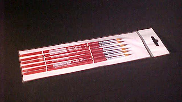 Neu Größe 1 Rundpinsel mit brauner Spitze Faller 172105 synthetisch