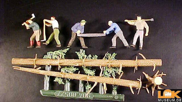 Holzfäller und Stämme