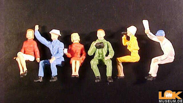 handbemalt Sitzende Paare 6 Figuren Preiser 14138 H0