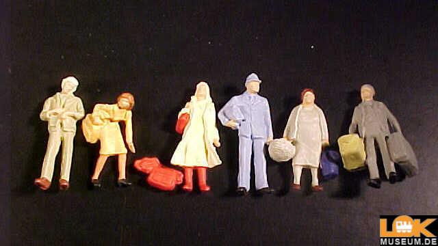 Preiser 14133 Reisende 6 Figuren Spur H0 1//87