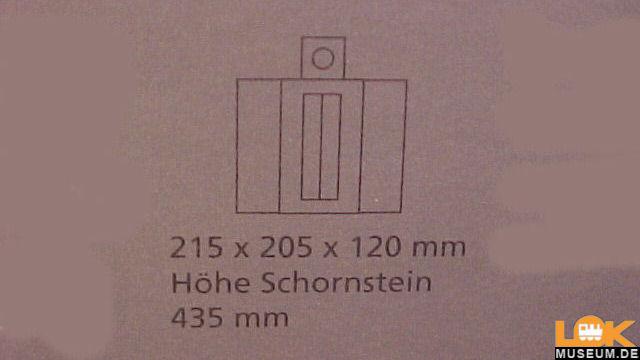 Heizhaus mit Schornstein