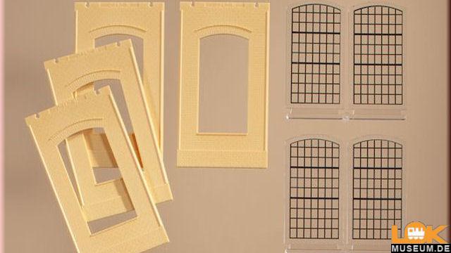 Wände 2342N gelb Industriefenster
