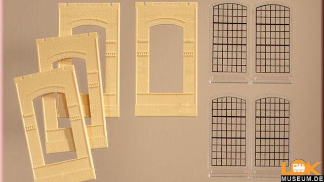 Wände 2342J gelb Industriefenster