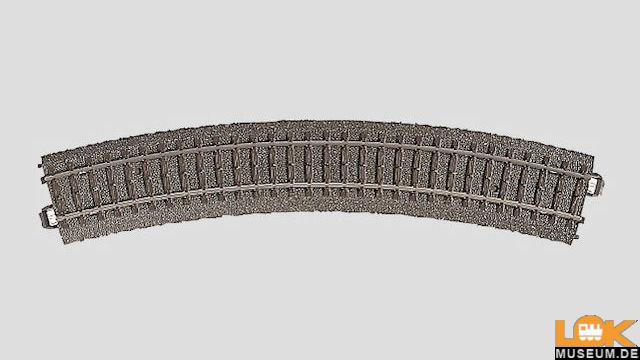 C-Gleis gebogen