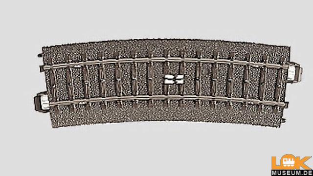 C-Gleis Schaltgleis gebogen R2