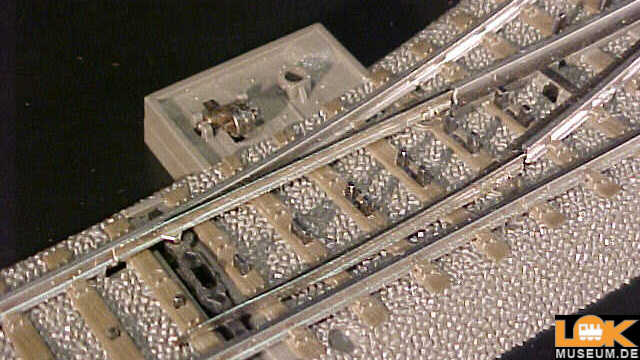 C-Gleis Bogenweiche links