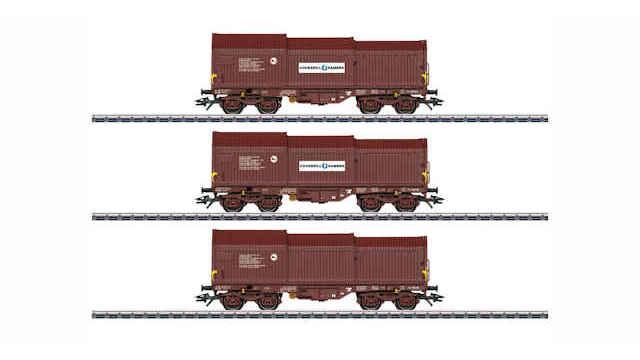 Güterwagen-Set Teleskophaubenwagen