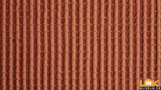 3D Dachpfanne rot Strukturfolie