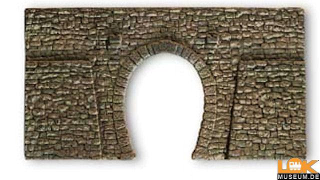 Tunnel-Portal 1-gleisig Bruchstein