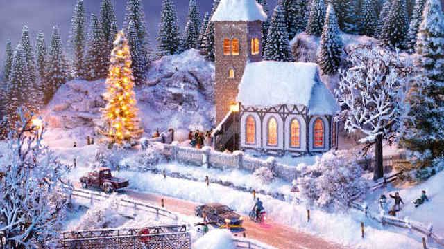 Perfekt-Set Winter-Landschaft
