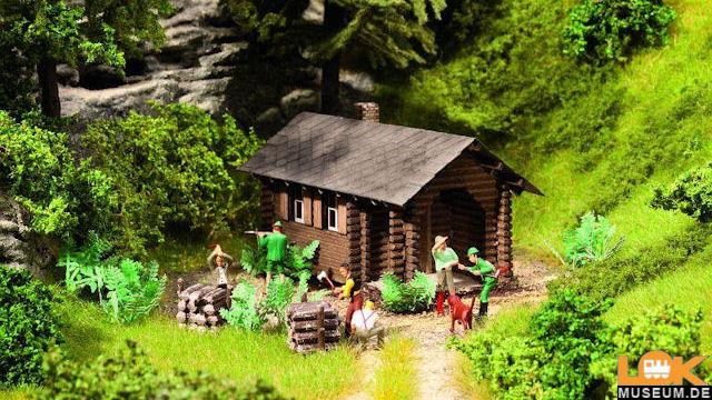 Waldhütte Themenset