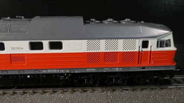 Diesellokomotive BR 232 der East-West-Rail