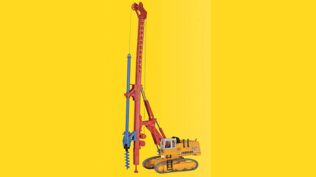 Hydraulikbagger mit Bohrgerät