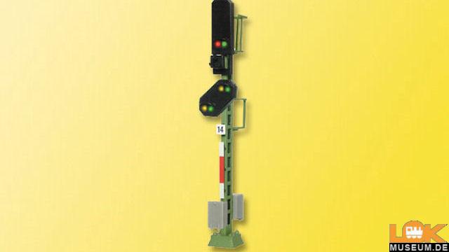 Licht-Blocksignal mit Vorsignal