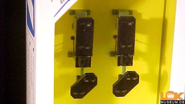 2 Multiplex-Einfahrsignalköpfe mit Vorsignal