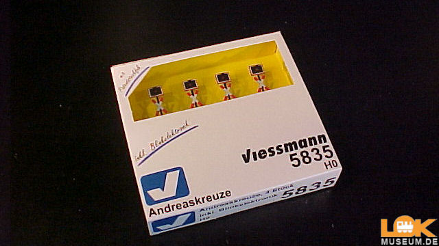 Andreaskreuze 4 Stück mit Blinkelektronik