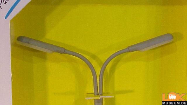 Peitschenleuchte doppelt LED weiss