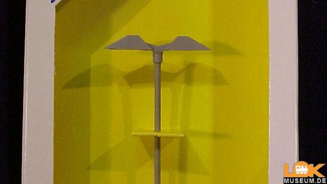 Moderne Bahnsteigleuchte doppelt LED weiß