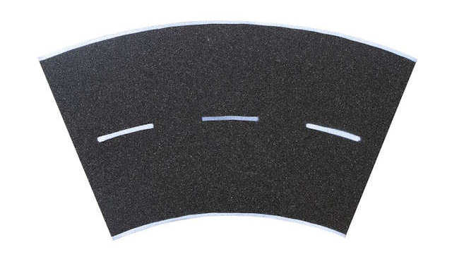 Straßenplatte Asphalt 45 Grad-Kurve