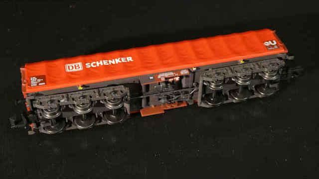 Coiltransportwagen mit Plane DB Schenker