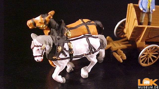Pferdegespann Kastenwagen