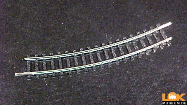 Gebogenes Gleis R2 - 24 Grad
