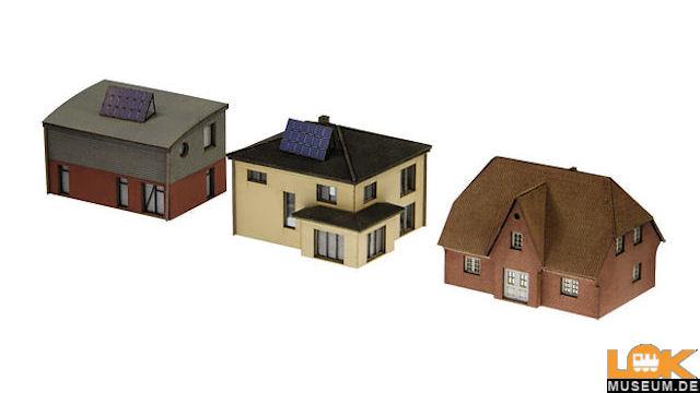 Bausatz 3 moderne Einfamilienhäuser