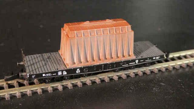 Märklin 82342 Schwerlasttransportwagen SSym 46 mit Ladegut Thermohaube