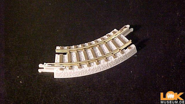 Gleis gebogen R45-45 Grad 4 Stück
